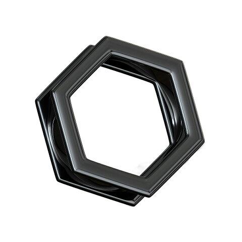 ボディピアス [0G]ブラック六角ナット型プラグ・フレッシュトンネル ラプラス ボディピアス laplace ボディーピアス