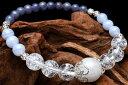 20世紀最大の発見 神秘的な石タンザナイトxムーンストーン「12月誕生石」 当店オリジナルブレス_A1014