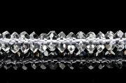 【連売り】【水晶ボタンカット】 4x8mm 1連(約38cm)天然石 パワーストーン ビーズ パーツ _R890-8 5000円以上送料無料