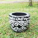 観葉植物 木製 おしゃれな手彫の鉢 木彫り キャンドル器 木の入れ物 植木鉢 植木ばち 器 バリ島 アジアン インテリア
