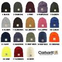 メール便送料無料 Carhartt/カーハート ニット帽 全18色【Carhartt/カーハート/ニット帽/ニットキャップ】A18