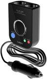 【アウトレット】ノイズレスSuper電源ソケット「PLUSING(プラッシング)」(2連ブラック) USBポート付き 車の電源ノイズの解消にXL-2100z (Lauda) ラウダ■