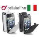 iPhone SE 5s ケース 縦開き スリム 軽量 ラッピング 送料無料 ブランド Cellularline FLAP ESSENTIAL エコレザー フラップケース