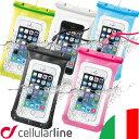 スマホ 防水ケース 防水スマホケース iPhone6s Plus iPhone SE 5S iPhone6 防水 ケース IPx8 スマートフォン 海 プール お風呂 ポーチ Xperia Z L 1 2 F3 F4 Galaxy Note S5 S6 edge アイフォン セルラーライン イタリア|携帯 アイフォン6s アイフォン6sプラス 防水カバー