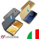 Galaxy note8 ケース 手帳型 Plus ギャラクシーs8 ギャラクシーs8+ プラス SAMSUNG PU レザー イタリア セルラーライン Cellularline ギャラクシーノート8 スマホケース スマートフォンケース アンドロイド 携帯ケース スマホカバー カバー スマートフォン おしゃれ