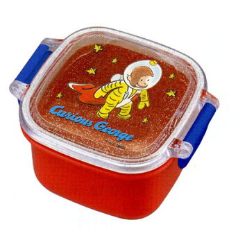 -Small-size sealed enclosure (the universe) ☆ lunch Bento box toy ☆ Curious George.