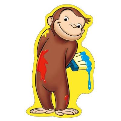 Naver for Curious george mural