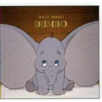 Disney Dumbo toy square sticky note ★ film art ★