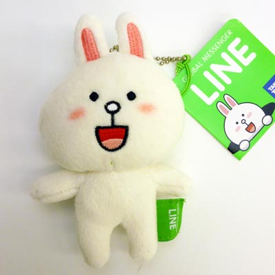 -Plush Toy / ball chain with ( Connie ) ☆ ラインキャラクター-mascot & strap goods