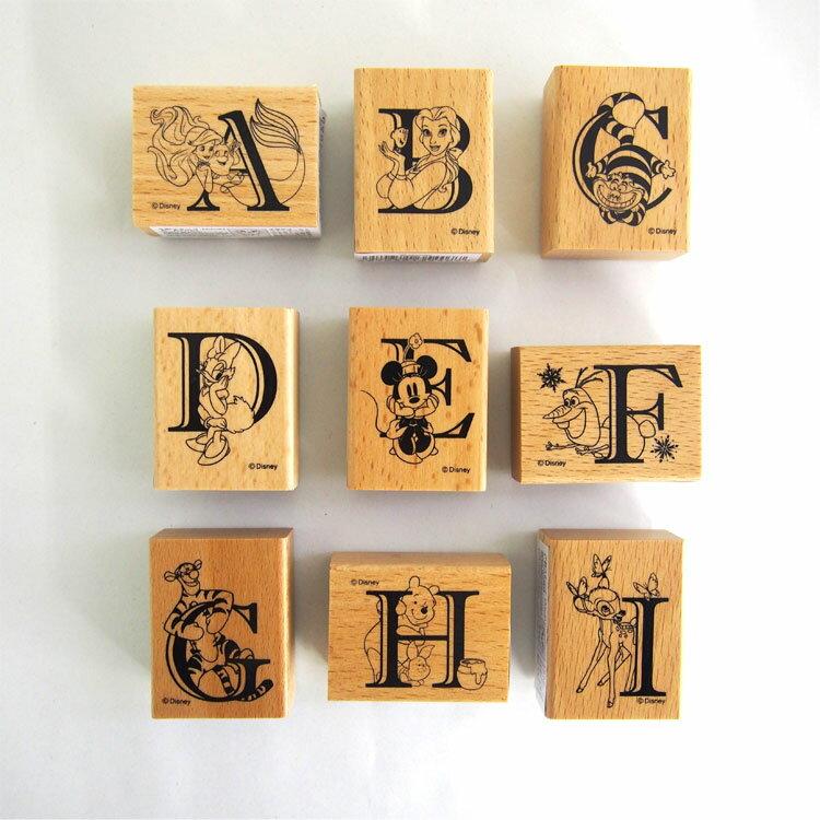 ディズニー木製スタンプアルファベット26個セット(A~Z)
