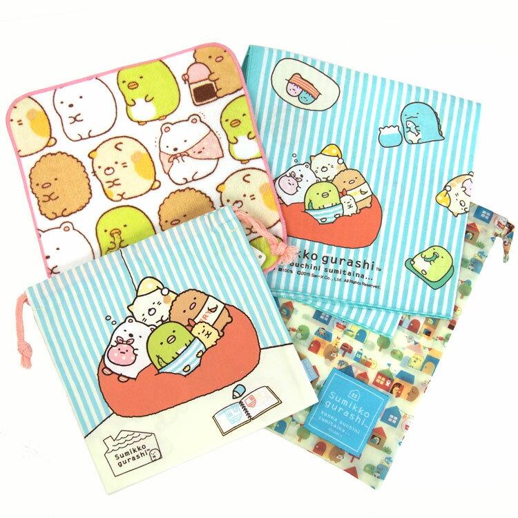 すみっコぐらし巾着×2・ナフキン・プチタオル福袋
