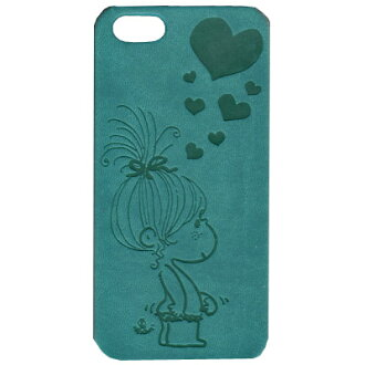 -IPhone5/5 s Italian PU mobile case (Hart / turquoise)
