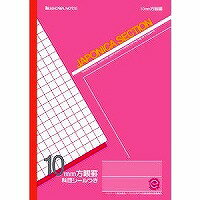 B 5 size 10 mm squared ruled notebook (peaches)