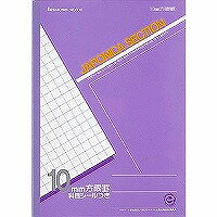 B 5 size 10 mm squared notebook laptop (purple)