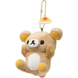 【Rilakkuma】 Plush toy badge ( Rilakkuma / face up)