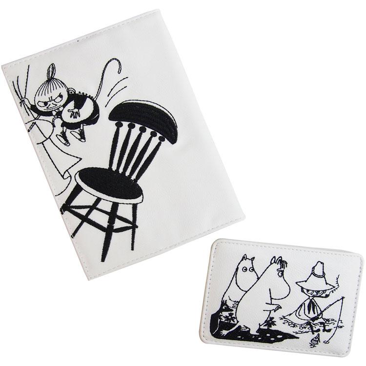 刺繍合皮ブックカバー+刺繍合皮カードケースセット