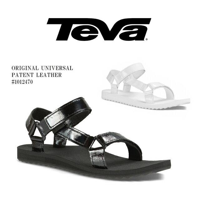 ■[即納]【TEVA】テバ W ORIGINAL UNIVERSAL PATENT LEATHER #1012470スポーツサンダルレディース靴 /パテントレザー/オリジナルユニバーサル/ブラック/ラバーソール/海/プール/夏フェス