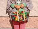 ◆フラダンス◆ハワイアンバッグ◆ちょっとお出かけに♪フラガール柄ミニトートバッグ