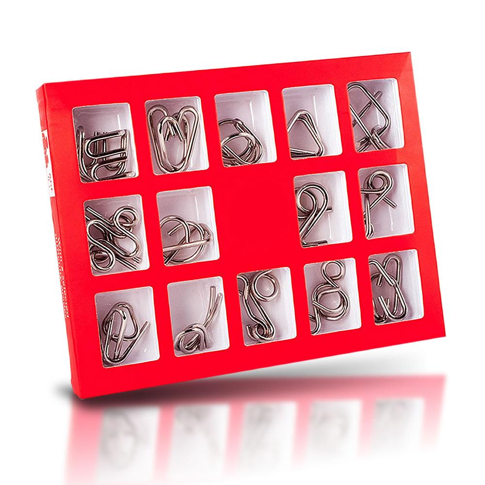 知恵ホンマん?知恵の輪スチールパズル知的立体遊び玩具知育ゲーム子供大人教育勉強謎解きTIEHONMA