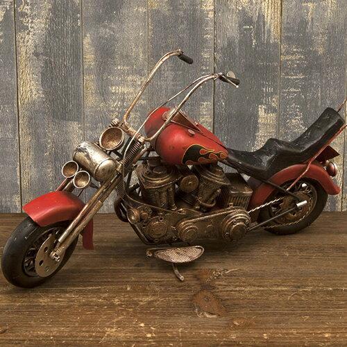 サイズ40cm アメリカン ビンテージ ブリキバイク ファイヤー オールドアメリカンバイク ミニチュア ブリキバイク 西海岸風 インテリア アメリカン雑貨