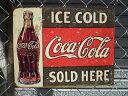 アメリカ看板 COCA-COLA(MS1299) コカコーラ ロゴ サインプレート コカコーラ看板 ブリキ看板 ブランド