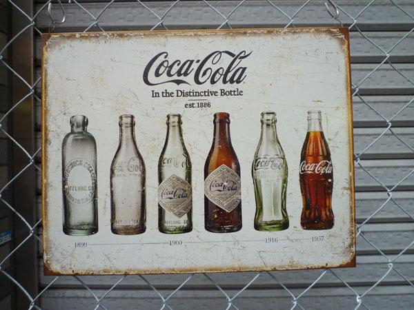 アメリカ看板 COCA-COLA(MS1839) コカコーラ ロゴ サインプレート 看板 店舗用 ブリキ看板 ブランド アメリカ雑貨 コカ・コーラ 西海岸風 インテリア アメリカン雑貨