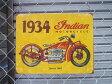 アメリカブリキ看板 大型バイクIndian MOTORCYCLE インディアンモーターサイクル TINプレート [MS0037]