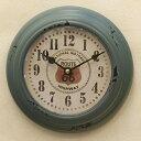 ビンテージ プレステージ ウォールクロック ルート66(アンテークブルー) ROUTE66 ガレージ ブリキ時計 壁掛け時計 時計 西海岸風 インテリア アメリカン雑貨