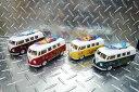 62年式クラッシックバス ワーゲンバスのミニカー(サーフ&フラワー) 1/32サイズ(13cm) ★アメリカ雑貨★アメリカン雑貨★アメ雑貨★アメ雑 アメリカン雑貨 通販 ★ハワイ 雑貨 ★ハワイアン 雑貨 hawaii