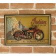 アメリカンウッドサイン 大型バイク Indian MOTORCYCLE Indian Model 101 インディアン・モトサイクル 木製看板 アメリカ看板 看板