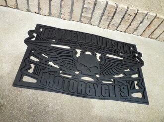 ★HARLEY-DAVIDSON ★ Harley-Davidson / bar & shield rubber mat ★ doorstep ★ floor mat