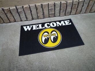Mooneyes welcome rubber mat IBall entrance mat garage mat