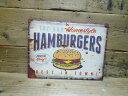 アメリカン ブリキ看板 ハンバーガー/ティンサインボード/メ...