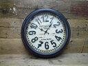 ★47cmのビッグサイズ時計!★ アンティーク風 ステーション ウォールクロック PARIS 壁掛け時計 時計 ビンテージ アンティーク カントリー 北欧
