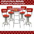 ★アメリカンバー COCA-COLA BRAND コカコーラブランド ハイテーブル&V-スツール×4脚セット(PJ-200T、PJ-210SS×4)