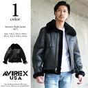 AVIREX アビレックス ムートンジャケット B-3 SHEEP SKIN BLACK 【USAモデル】