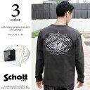 【SALE】 Schott ショット バックプリント レザーポケット Tシャツ 3163061 【返品交換不可】