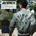 """【楽天スーパーSALE】 AVIREX/ MA-1 COMMERCIAL LOGO """"NEW"""" #6162164(メンズ/アウター/MA-1//コマーシャルロゴ..."""