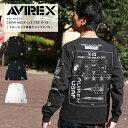 平日限定10%OFFクーポン配布中★ AVIREX アヴィレックス クルーネックTシャツ X-15 6183501【ラッキーシール対応】