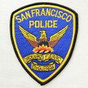 ポリスエンブレムワッペン サンフランシスコ警察(糊なし) A...