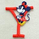 アルファベットワッペン ディズニー ミニーマウス(Y/レッド) キャラクター 名前 イニシャル MY4001-MY318