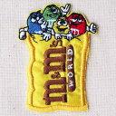 ワッペン M&M's エムアンドエムズ チョコレート(パック) LGW-006 アイロン アップリケ パッチ アルファベット エンブレム 名前 ミリタリー 車 ディズニー ワッペン
