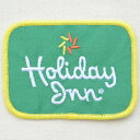 ロゴワッペン Holiday Inn ホリデーイン ホリデイイン グリーン アメリカン パッチ 刺繍 アイロン 05P11Jan14