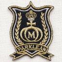エンブレムワッペン M Parklean パークリーン EMW-005 ワッペン ブローチ ブランド 通販 アップリケ ブレザー エンブレム アルファベット ミリタリー アメリカ空軍 企業 アメリカ アイロン 王冠 星条旗 国旗 名前 おしゃれ