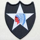 ミリタリーワッペン U.S.Army アーミー 2nd Inf Div(インディアン) PM0096 ワッペン ブローチ ブランド 通販 アップリケ ブレザー エンブレム アルファベット ミリタリー アメリカ空軍 企業 アメリカ アイロン 王冠 星条旗 国旗 名前 おしゃれ
