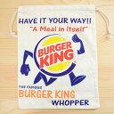アメリカンロゴ巾着袋(L) バーガーキング Burger King LJK-L023 SSS