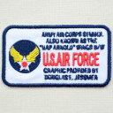 ミリタリーワッペン U.S.Air Force エアフォース アメリカ空軍(レクタングル) LJW-001 アイロン アップリケ パッチ アルファベット エンブレム 名前 ミリタリー 車 ディズニー ワッペン