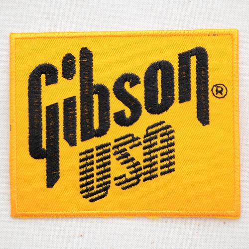 ロゴワッペンギブソンGibsonUSAギター音楽楽器ロックバンドアイロンWC0072アイロンアップリ