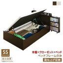 組立設置付 タイプが選べる 大容量 収納 ベッド Select-IN セレクトイン ベッドフレームのみ 跳ね上げ収納 セミシングルサイズ 深さラージ セミシングルベッド ベット