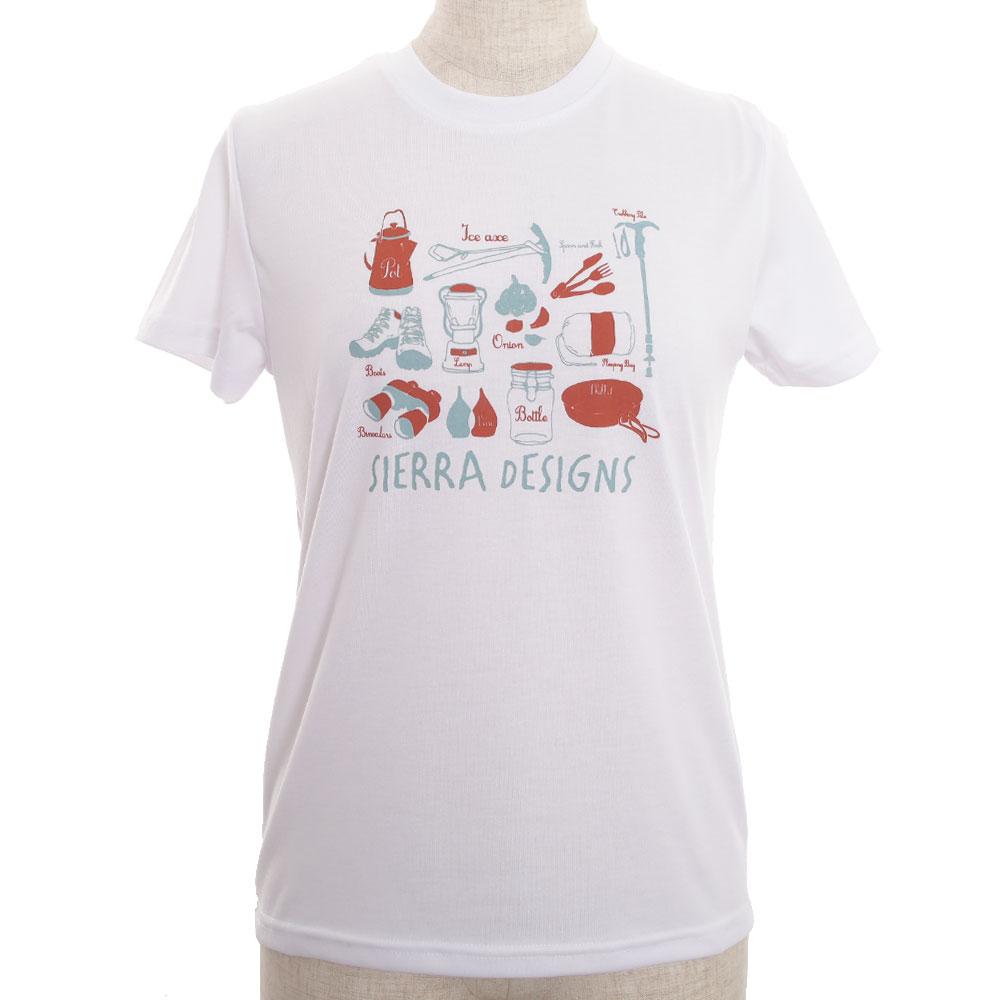 シェラデザインズ シェラデザインズ ボウブン キャンプグッズ レディース S/S Tシャツ